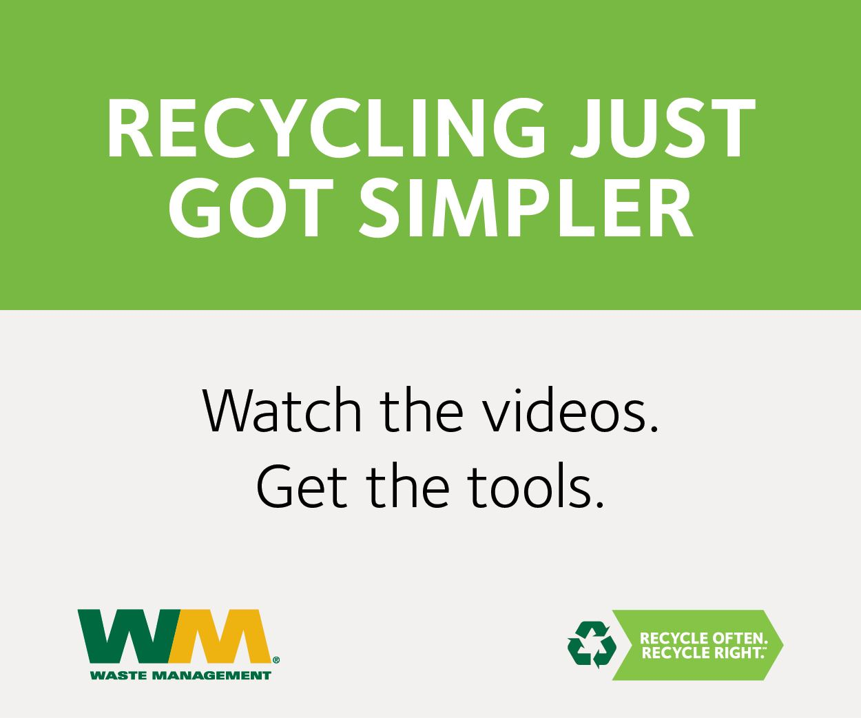 Recycling Just Got Easier Opens in new window