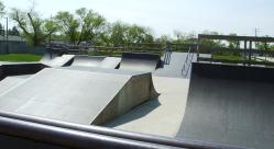 Daniel Barry Memorial Skate Park close up of ramps