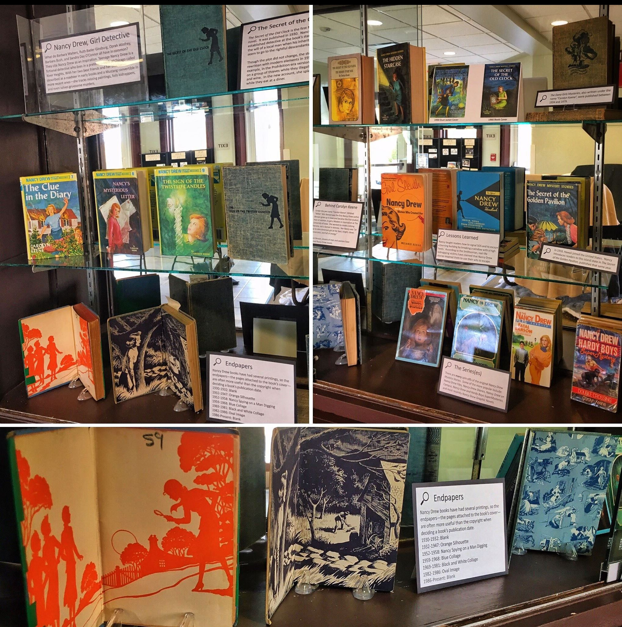 Nancy Drew book collection of a Grayslake resident on display